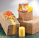 Tan Newsprint Cardboard Paper Boxes