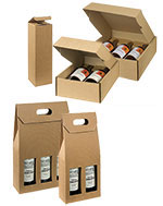 Tawney Texture Ribbed Italian Wine Boxes