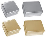 2 Piece Metallic Tins