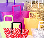 Colorful Trapezoid Plastic Shopping Bag