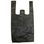 Black T-shirt Shopping Bags