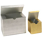 Metallic Linen Textured 1 Piece Gift Boxes
