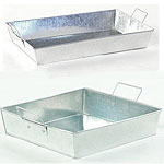 Galvanized Rectangular Trays with Side Handles