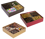 Pretzel & Nut Boxes with Clear Lids