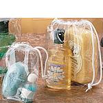 6 Gauge Vinyl Cosmetic Bags w/Drawstring