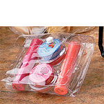 Clear Vinyl Snap Bags w/White Snaps