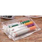Vinyl Bags w/Sliding Plastic Closure and Heat Sealed Seams