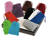 Velour Drawstring Jewlery and Gift Pouches