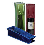 Velvet Trimmed Wine Bottle Bags