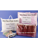 Home Furnishings Bags w/Clear Handles and Inside Pocket