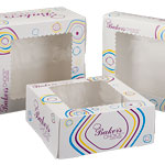 Baker's Choice White Windowed Cake Bakery Boxes