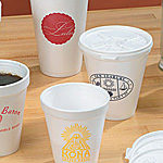 White Foam Beverage Cups