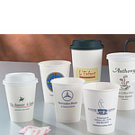Printed White Paper Hot Cups