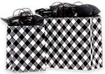 White Buffalo Plaid Paper Shopping Bags
