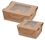 Windowed Bio Pack Coated Take-out Boxes
