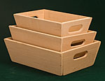 Wooden Tapered Bins