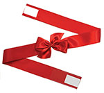 Satin Wrap Faux Bow