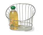 Chrome Wire Wall Basket