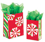 Snowflake Bling Paper Shopping Bags