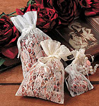 Sheer Lace Gift and Potpourri Pouches w/ Satin Cord