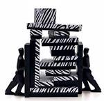 Zebra Print 2 Piece Set-Up Fiber Filled Jewelry Box