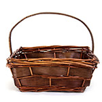 5180 Square Dark Brown Basket