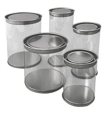 Clear Can With Solid Tin Lid