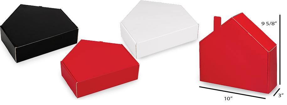House Shaped Colored Corrugated Mailer Boxes