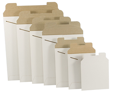 Flat White Cardboard Mailers Us Box Corp