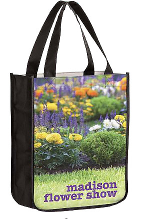 Custom 9x4x11 Dye Sub Full Color NonWoven PET Bags