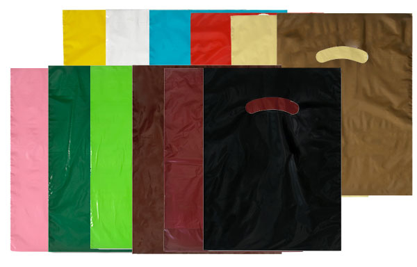 Super Gloss Low Density Die Cut Plastic Bags