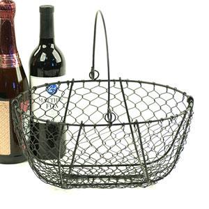 Oval Black Wire Basket