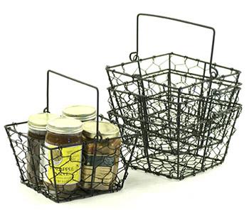 Black 6 1/2in Wire Basket