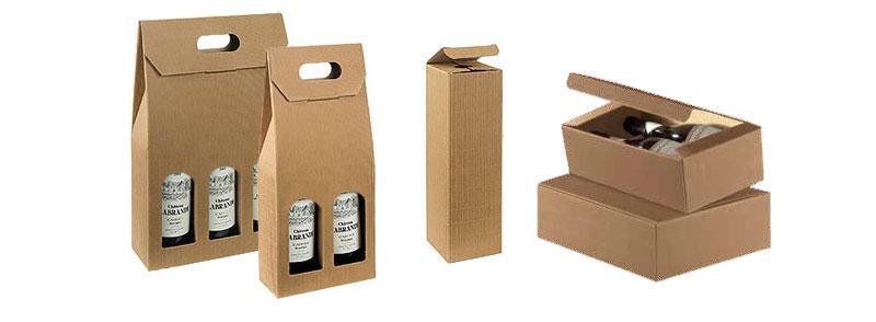 Tawney Texture Ribbed Italian Wine Boxes