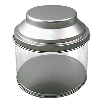 Clear Tea Can w/ Tin Lid