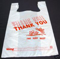 Plastic T-shirt Shopping Bags