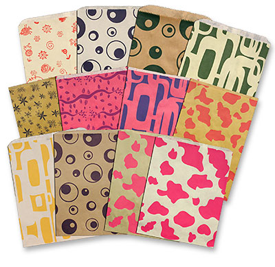 Thrifty Prints Random Designed Merchandise Bags