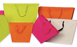 Trapezoid Ribbon Handle Euro Totes