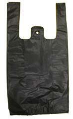 Black T-shirt Shopping Bags