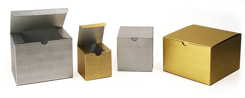 Metallic Linen Textured 1 Piece Gift Boxes