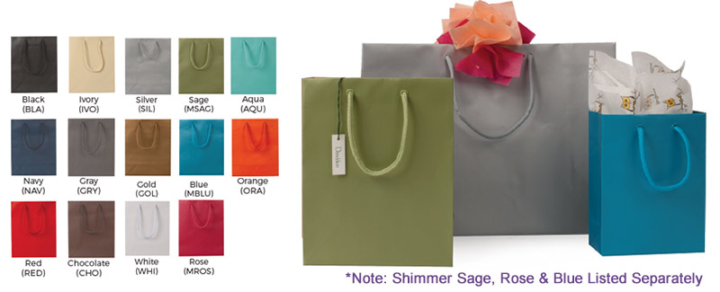 Matte Colored Euro Totes