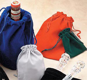 Velvet Drawstring Jewelry and Gift Pouches