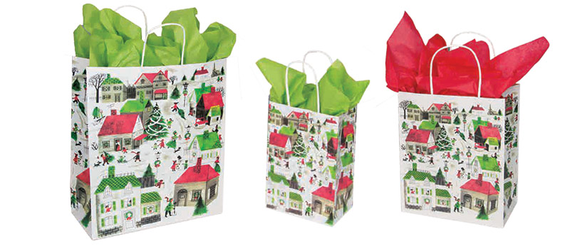 Village Designed Paper Shopping Bags