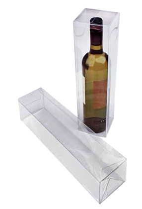 1 Piece Single Bottle Clear Wine Box