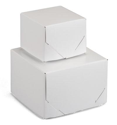 White 2 Piece Lock Corner Boxes