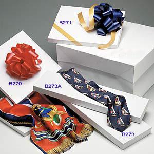 White Tie, Scarf & Hosiery Set-up Boxes