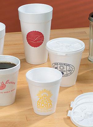 White Foam Beverage Cups