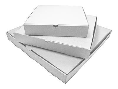 Plain Corrugated White Pizza Boxes