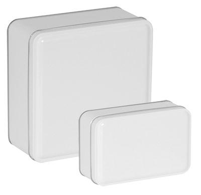 White Color Metallic Tins