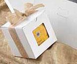 1 Piece White Windowed Gift Box